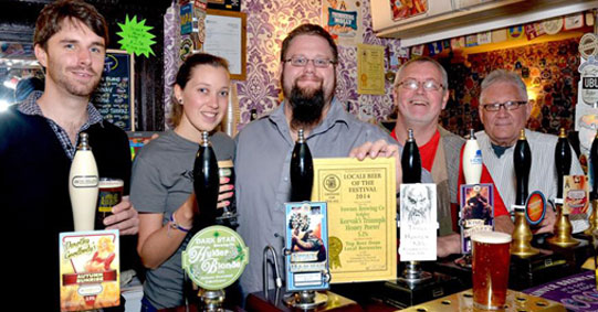 James and Story John receiving award for Korvak's Triumph from Kidderminster CAMRA beer festival.