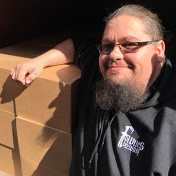 Tom delivering Beer